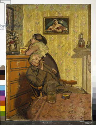 Ennui, 1917-18 (oil on canvas) (see also 142951 and 617723)
