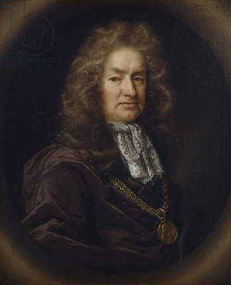 Portrait of Elias Ashmole (1617-92) English antiquary, 1689 (oil on canvas)