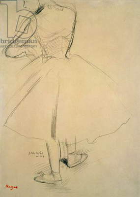 Ballet Dancer from Behind, 19th century (pencil on paper)