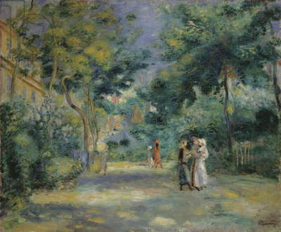 The Gardens in Montmartre, 19th century (oil on canvas)