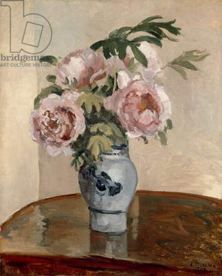A Vase of Peonies, 1875 (oil on canvas)