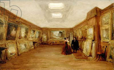 Interior of Turner's Gallery, 19th century (oil on millboard)
