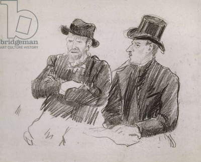 Van Gogh in Conversation, 1890 (black chalk on paper)