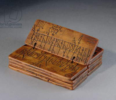 Runic almanac, 16th century (carved boxwood)