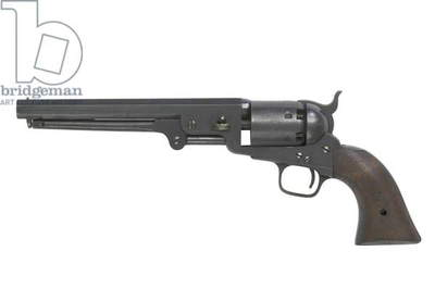 Model 1851 Colt Navy Revolver marked WD (British War Department), c.1855 (wood & metal)