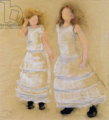 Party dresses, 2004 (pastel with charcoal and pencil on paper)