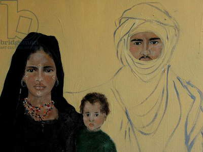 closeup of Tuareg family
