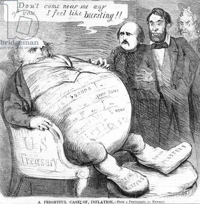 'A Frightful Case of Inflation', c.1863 (litho)