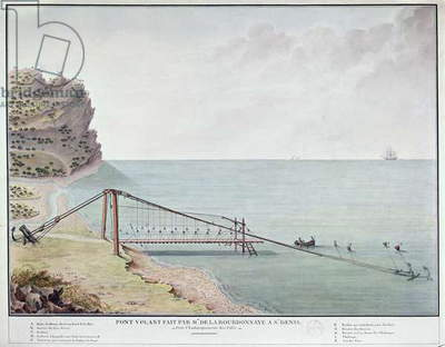Floating Bridge for Loading Coffee, Saint-Denis, La Reunion, c.1730-40 (w/c on paper)