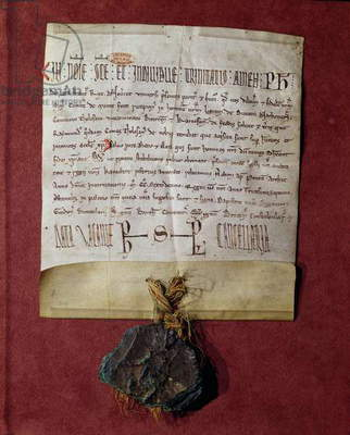 Homage to King Philip II (1165-1223) from Simon de Montfort (c.1160-1218) for the territories confiscated from Raymond VI (1197-1249) c.1216 (vellum)