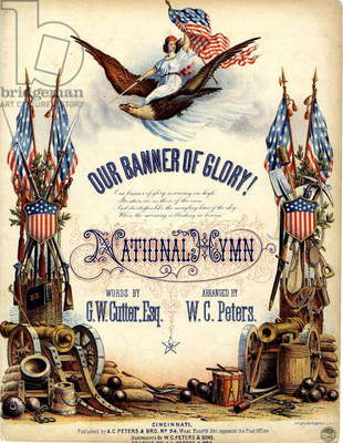 Our Banner of Glory!, c.1863 (colour litho)