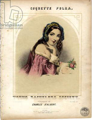 Coquette Polka, c.1855 (colour litho)
