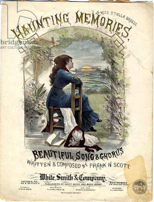 Haunting Memories to Miss Stella Breeze, 1882 (colour litho)