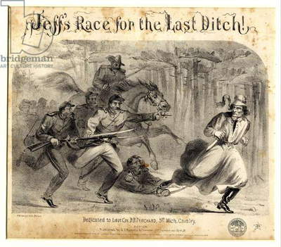 Jeff's Race For the Last Ditch!, 1865 (litho)