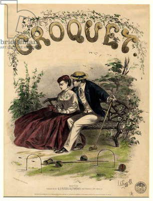 Croquet, 1867 (hand-coloured litho)