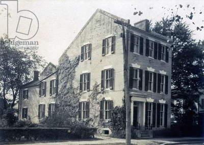 View of the Truitt family house, Easton, c.1920s (b/w photo)