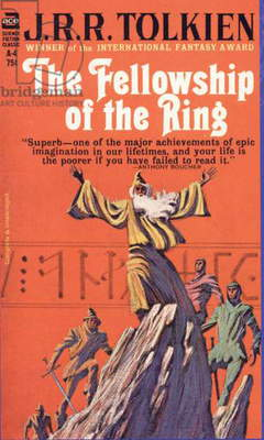 The Lord of the Rings - The Fellowship of the Ring by J.R.R. Tolkien Book Cover, USA, 1970s