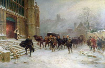 The Funeral of King Charles I - St. George's Chapel, Windsor in 1649, 1907 (oil on canvas)