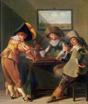 Backgammon Players, 17th century