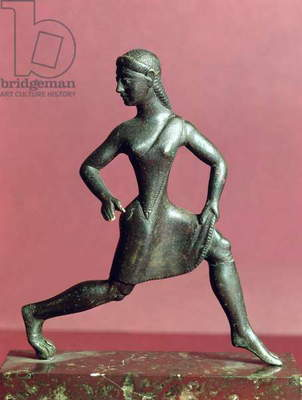 Figurine of a girl running, (bronze)