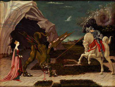 St. George and the Dragon, c.1470 (oil on canvas) (for detail see 85548)