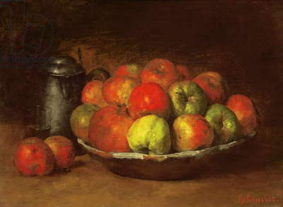 Still Life with Apples and a Pomegranate, 1871-72 (oil on canvas)