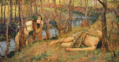 The Naiad, 1893 (oil on canvas)