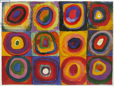 Concentric Circles, 1913 (oil on canvas)