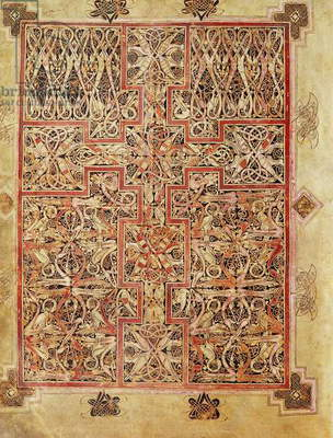 Fol.220 Carpet page, from the Lichfield Gospels, c.720 (vellum)