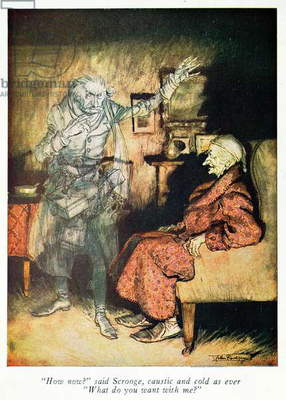 Scrooge and The Ghost of Marley, from Dickens' 'A Christmas Carol'