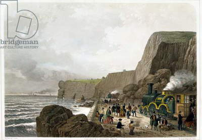 South Devon Railway: Landslip near the Parson and Clerk Rock, Dec. 29th 1852 (colour litho)