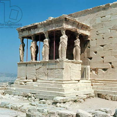 Porch of the Maidens, Erechtheion, c.421-405 BC (photo)