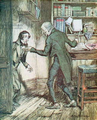 Scrooge and Bob Cratchit, from Dickens' 'A Christmas Carol'