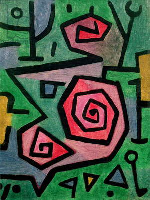 Heroic Roses, 1938 (no 139) (oil on burlap)