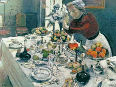 The Dinner Table, 1896-97 (oil on canvas)