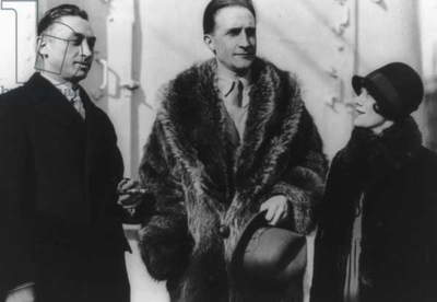 Leon Hartt, Marcel Duchamp, and Mrs. Hartt (b/w photo)