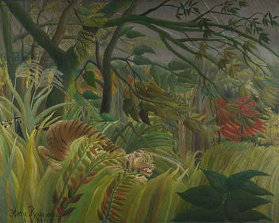 Tiger in a Tropical Storm (Surprised!) 1891 (oil on canvas)