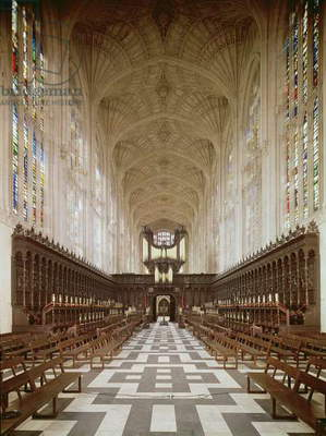 Interior of Kings College Chapel, Cambridge (1446-1515) (photo)