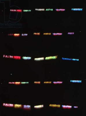 Seven Virtues and Seven Vices, 1983 (fluorescent tube lighting)