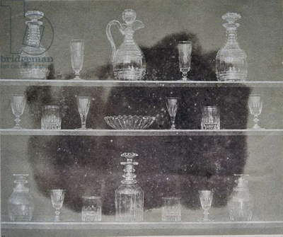 Articles of glass, Photograph, from Pencil of Nature, 1844