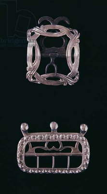 Silver buckles, English, late 18th century
