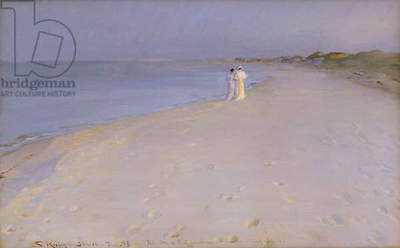 Summer evening at the South Beach, Skagen, 1893 (oil on canvas)