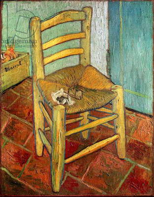 Vincent's Chair, 1888 (oil on canvas)