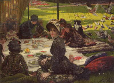 The Picnic (Dejeuner sur l'Herbe), c.1881-2 (panel)