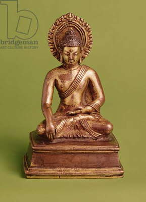 Seated Buddha (gilt bronze)