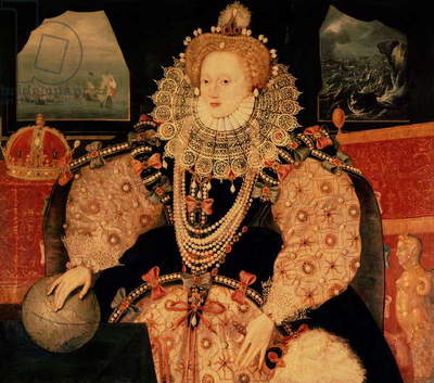 The Armada portrait of Queen Elizabeth I, c.1590 (oil on panel)