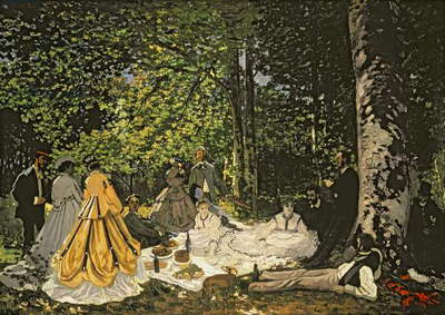 Le Dejeuner sur l'Herbe, 1865-1866 (oil on canvas)