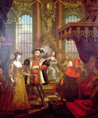 Henry VIII (1491-1547) introducing Anne Boleyn at court (see also 67103)