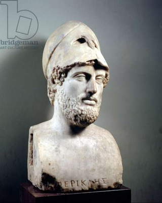 Bust of Pericles (d.429 BC) copy of a Greek original (marble) (see also 119218)