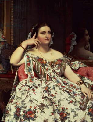 Madame Moitessier, 1856 (oil on canvas)